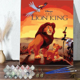 DIY Paint By Numbers Cartoon Lion King Oil Painting Zero Basis HandPainted Home Decor Canvas Drawing