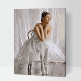 DIY Paint By Numbers Colorful Dancing Girl Oil Painting Zero Basis HandPainted Home Decor Canvas Drawing