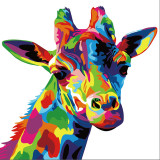 DIY Paint By Numbers Rainbow Giraffe Oil Painting Zero Basis HandPainted Home Decor Canvas Drawing
