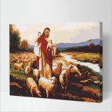 DIY Paint By Numbers Colorful Goatherd Oil Painting Zero Basis HandPainted Home Decor Canvas Drawing