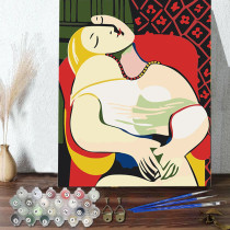 DIY Paint By Numbers Colorful Sleep Theme Oil Painting Zero Basis HandPainted Home Decor Canvas Drawing