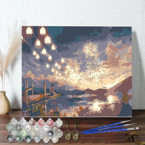 DIY Paint By Numbers Colorful Fairworks Oil Painting Zero Basis HandPainted Home Decor Canvas Drawing