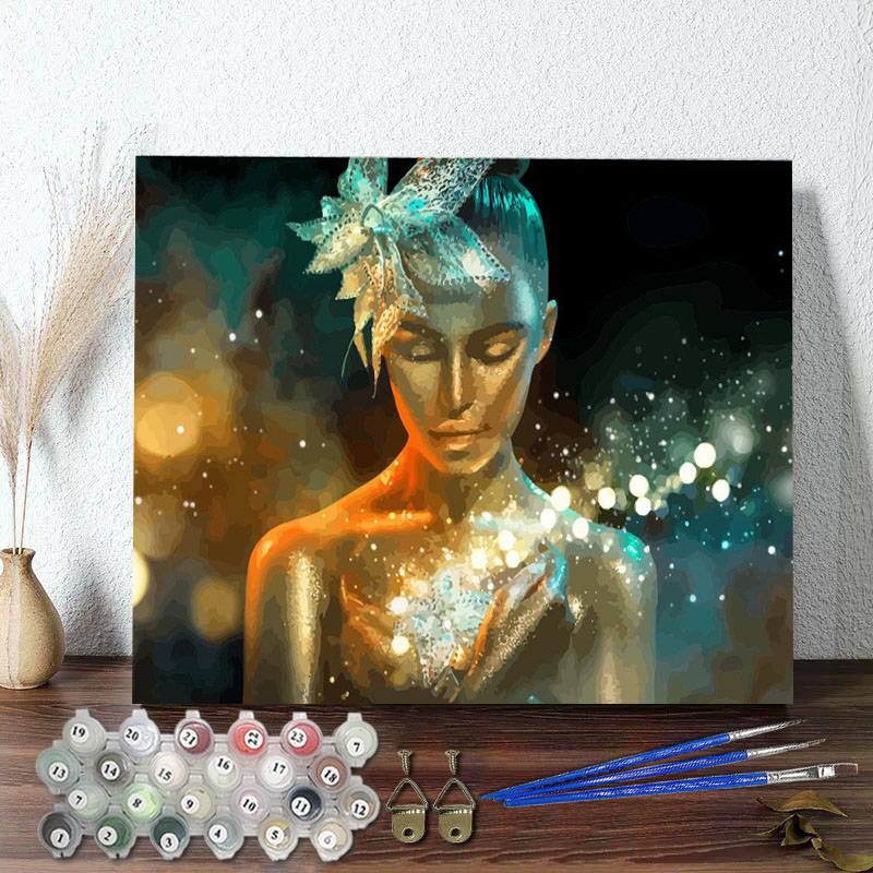 DIY Paint By Numbers Colorful Figure Oil Painting Zero Basis HandPainted Home Decor Canvas Drawing