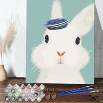 DIY Paint By Numbers Cute Rabbit Oil Painting Zero Basis HandPainted Home Decor Canvas Drawing