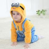 Family Kigurumi Pajamas Yellow Cartoon Minions Onesie Cosplay Costume Pajamas For Kids and Adults
