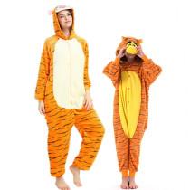 Family Kigurumi Pajamas Tigger Animal Onesie Cosplay Costume Pajamas For Kids and Adults