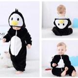 Family Kigurumi Pajamas Black Penguin Animal Onesie Cosplay Costume Pajamas For Kids and Adults