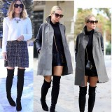 Classic Over The Knee High Suede Women Boots Winter Thigh High Pointy Boots