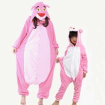 Family Kigurumi Pajamas Pink Leopard Onesie Cosplay Costume Pajamas For Kids and Adults