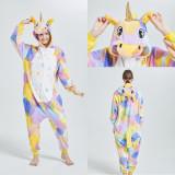 Family Kigurumi Pajamas Yellow Unicorn Onesie Cosplay Costume Pajamas For Kids and Adults