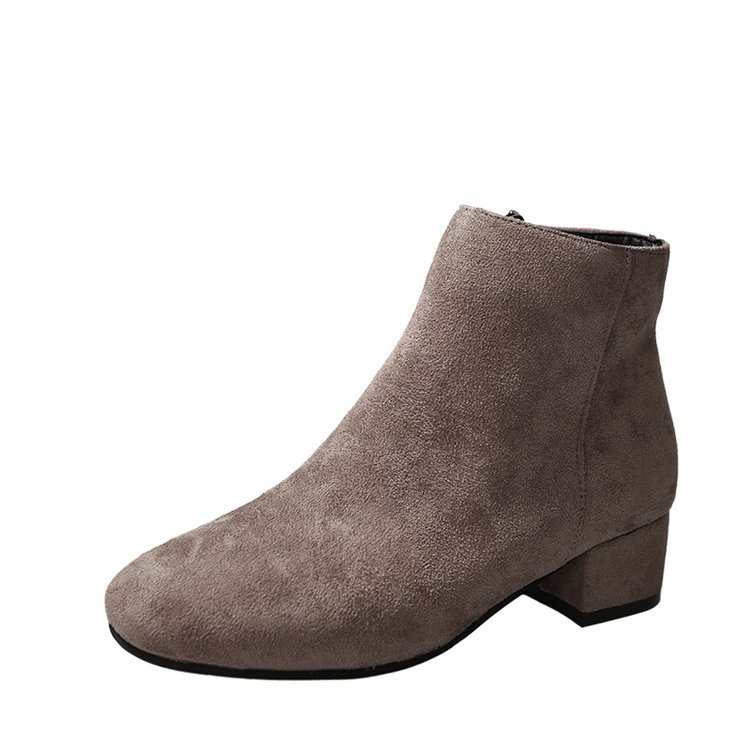 Women Suede Simple Flat Ankle Boots