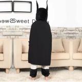 Family Kigurumi Pajamas Grey Bat Man Rabbit Animal Onesie Cosplay Costume Pajamas For Kids and Adults