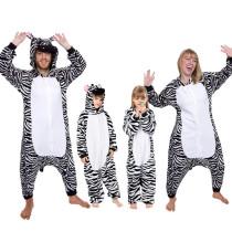 Family Kigurumi Pajamas Zebra Animal Onesie Cosplay Costume Pajamas For Kids and Adults