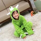 Family Kigurumi Pajamas Green One Eyed Monster Onesie Cosplay Costume Pajamas For Kids and Adults