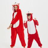 Family Kigurumi Pajamas Red Husky Dog Onesie Cosplay Costume Pajamas For Kids and Adults