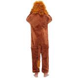Family Kigurumi Pajamas 3D New Brown Lion Onesie Cosplay Costume Pajamas For Kids and Adults