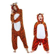 Family Kigurumi Pajamas Brown Tiger Animal Onesie Cosplay Costume Pajamas For Kids and Adults