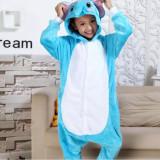 Family Kigurumi Pajamas Blue Elephant Animal Onesie Cosplay Costume Pajamas For Kids and Adults