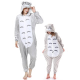 Family Kigurumi Pajamas Grey Totoro Animal Onesie Cosplay Costume Pajamas For Kids and Adults