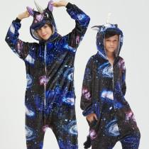 Family Kigurumi Pajamas Navy Sky Star Unicorn Animal Onesie Cosplay Costume Pajamas For Kids and Adults