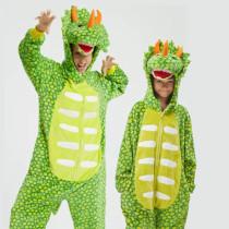 Family Kigurumi Pajamas Light Green Triceratops Animal Onesie Cosplay Costume Pajamas For Kids and Adults