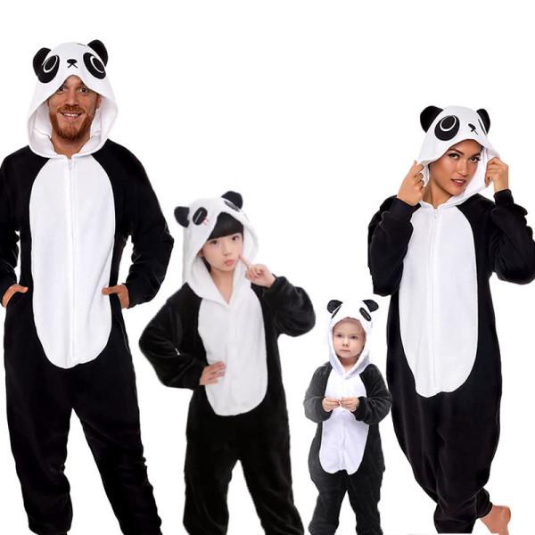 Family Kigurumi Pajamas Black Panda Animal Onesie Cosplay Costume Pajamas For Kids and Adults