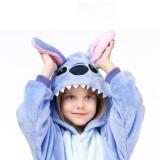 Family Kigurumi Pajamas Cartoon Blue Stitch Animal Onesie Cosplay Costume Pajamas For Kids and Adults