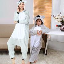 Family Kigurumi Pajamas Grey Koala Animal Onesie Cosplay Costume Pajamas For Kids and Adults