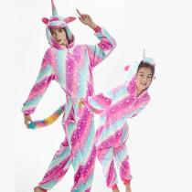Family Kigurumi Pajamas 3 Colors Stars Unicorn Animal Onesie Cosplay Costume Pajamas For Kids and Adults