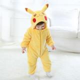 Family Kigurumi Pajamas Yellow Pokemon Pikachu Animal Onesie Cosplay Costume Pajamas For Kids and Adults