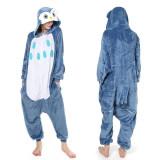 Family Kigurumi Pajamas Blue Owl Animal Onesie Cosplay Costume Pajamas For Kids and Adults