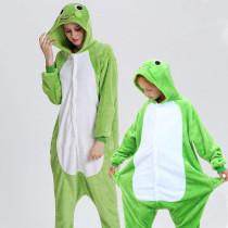 Family Kigurumi Pajamas Green Frog Animal Onesie Cosplay Costume Pajamas For Kids and Adults