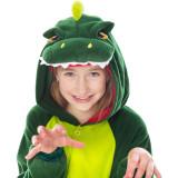 Family Kigurumi Pajamas Green Dinosaur Animal Onesie Cosplay Costume Pajamas For Kids and Adults