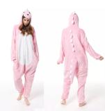 Family Kigurumi Pajamas Pink Dinosaur Animal Onesie Cosplay Costume Pajamas For Kids and Adults