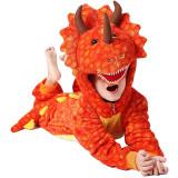 Family Kigurumi Pajamas Orange Triceratops Animal Onesie Cosplay Costume Pajamas For Kids and Adults
