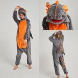 Family Kigurumi Pajamas Grey Dinosaurs Animal Onesie Cosplay Costume Pajamas For Kids and Adults