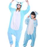 Family Kigurumi Pajamas Blue Rabbit Onesie Cosplay Costume Pajamas For Kids and Adults