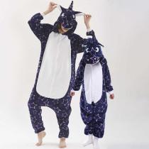 Family Kigurumi Pajamas Navy Pink Stars Unicorn Animal Onesie Cosplay Costume Pajamas For Kids and Adults