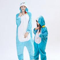 Family Kigurumi Pajamas Blue Doraemon Animal Onesie Cosplay Costume Pajamas For Kids and Adults