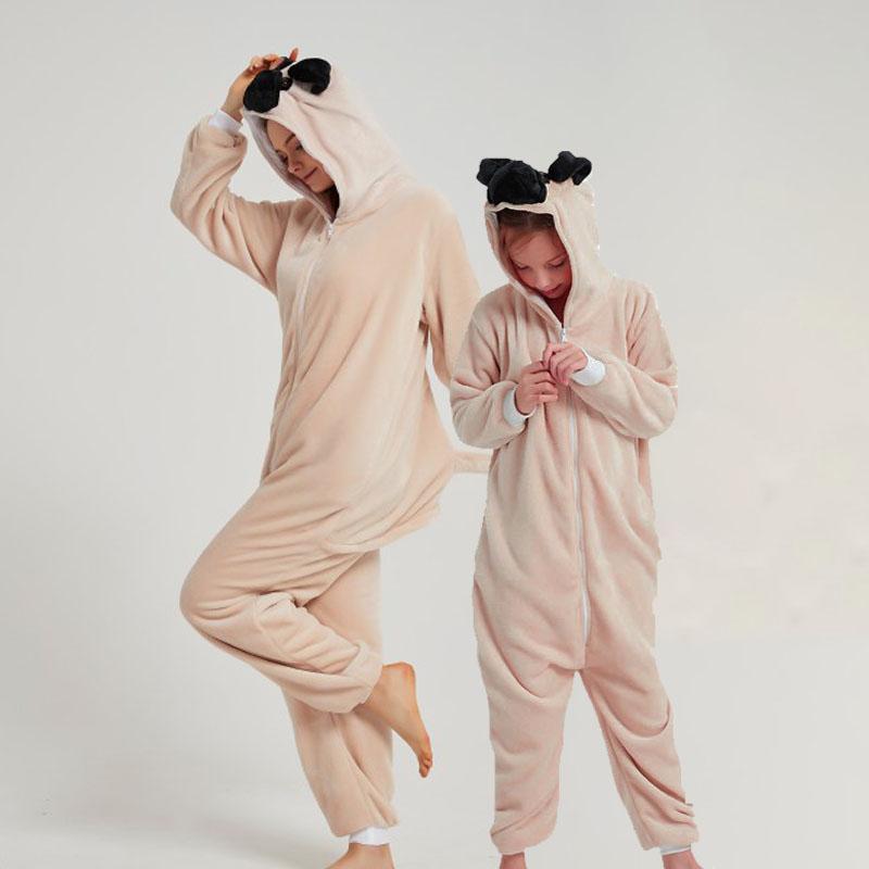 Family Kigurumi Pajamas Shar Pei Dog Onesie Cosplay Costume Pajamas For Kids and Adults