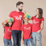 Matching Family Prints Crown King Queen Prince Princess Family T-Shirts
