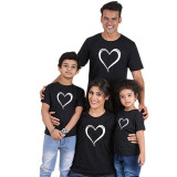 Matching Family Prints Loving Heart Pure Color Family T-Shirts