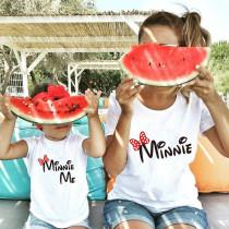 Matching Family Prints Polka-Dot Bow Minnie Mom And Me T-Shirts