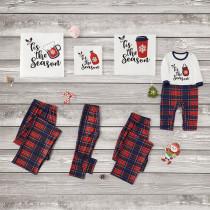 Christmas Family Matching Pajamas Beer Coffee Milk Cup Tops and Plaid Pants