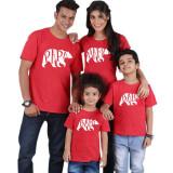 Matching Family Prints Papa Mama Polar Bear Letter Family T-Shirts