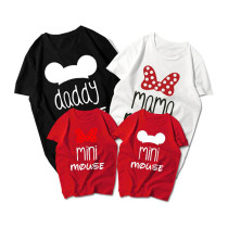 Matching Family Prints Mickey Minnie Mouse Letter Family T-Shirts