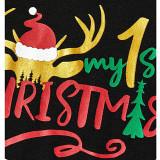 Christmas Family Matching Pajamas Sets Elk Merry Christmas Top and Plaid Pant