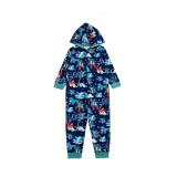 Christmas Family Matching Pajamas Dinosaur Jumpsuit Hooded Pajamas