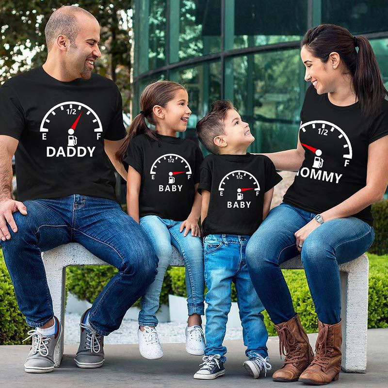 Matching Family Prints Throttle Meter Family T-Shirts