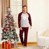 Christmas Family Matching Sleepwear Pajamas Snowflake Prints Tops and Plaid Pants Family Pajamas Sets